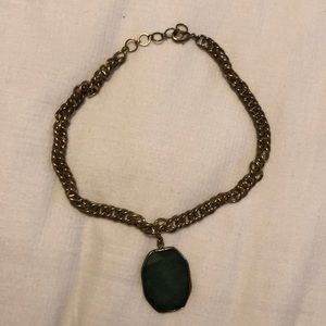 Emerald Stone Statement Necklace